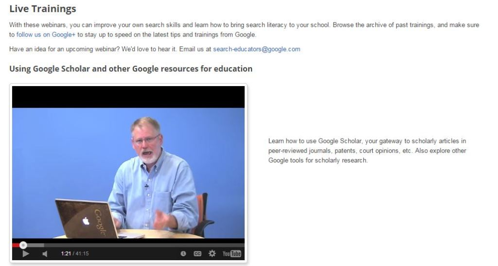 Google Search for Education