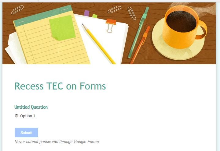 Google Forms Kicks It Up